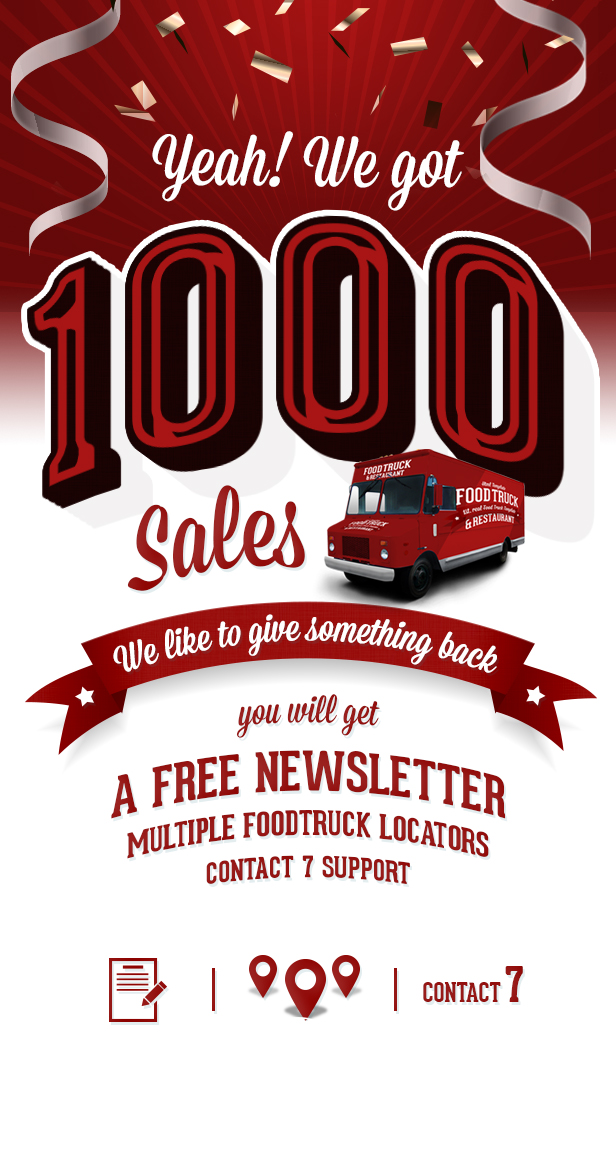 Food Truck & Restaurant 20 Styles - WP Theme