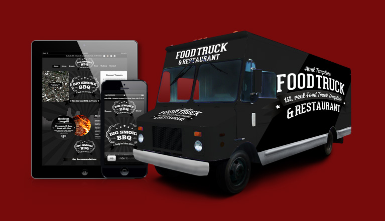 Wordpress foodtruck 1st real food truck template for Food truck design software