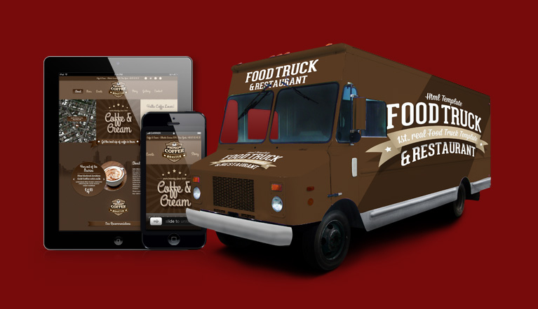 wordpress foodtruck 1st real food truck template restaurant 20 great styles. Black Bedroom Furniture Sets. Home Design Ideas
